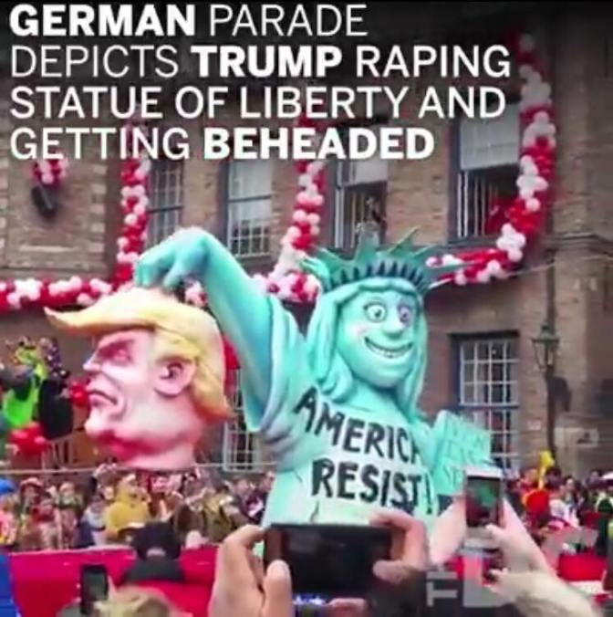 German Parade Depicts Trump Getting Beheaded a la ISIS – Video Reel