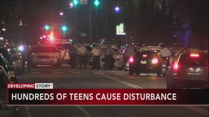 Philadelphia police: Teen flash mob threw bottles at cops